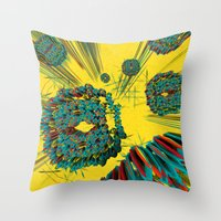 cyberpunk Throw Pillows featuring Coral Reef by Obvious Warrior