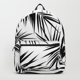 Palm Leaves Cali Finesse #3 #BlackWhite #tropical #decor #art #society6 Backpack