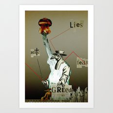 The truth is dead 9 Art Print