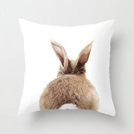Bunny Back Throw Pillow