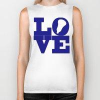 lacrosse Biker Tanks featuring Lacrosse Love Navy Blue by YouGotThat.com