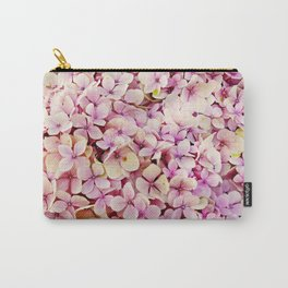 Hydrangea Pink Flowers Carry-All Pouch