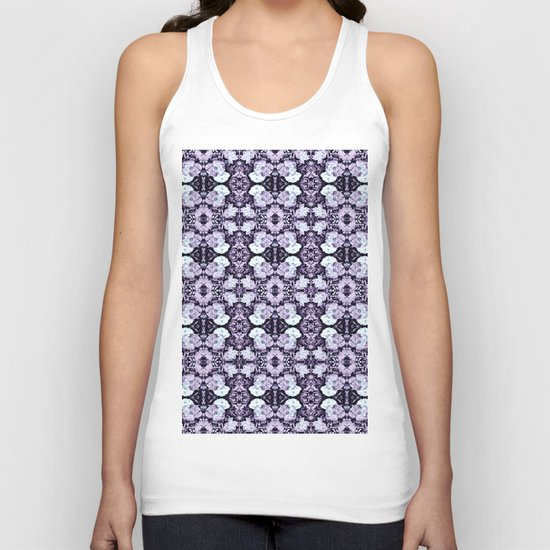 Violet  Roses Seamless Pattern Unisex Tank Top