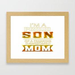 Proud Son Framed Art Print