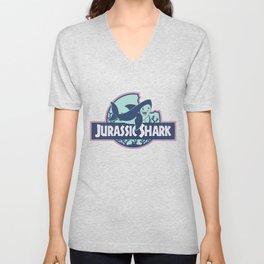 Jurassic Shark - Great White Shark Unisex V-Neck