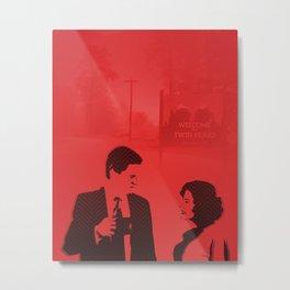 Audrey and Cooper Metal Print