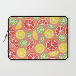 Vitamin C Super Boost - Citric Fruits on Peach Laptop Sleeve