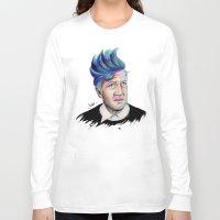 david lynch Long Sleeve T-shirts featuring David Lynch by Coco Dávez