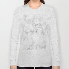 Marble pattern on white background Long Sleeve T-shirt