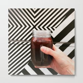 Artistic Cold Brew Shot 3 // Mason Jar Caffeine & Street Art Barista Coffee Shop Wall Hanging Photo Metal Print