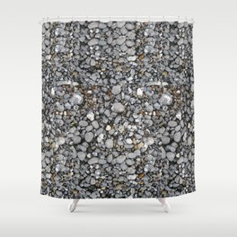 pebbles on the beach Shower Curtain