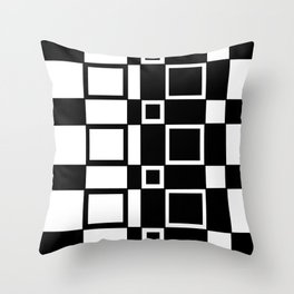 Chic Checkerboard Throw Pillow