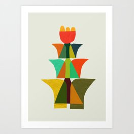 Whimsical bromeliad Art Print