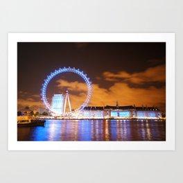 London Midnight Eye Art Print