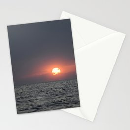 Sunset open sea Stationery Cards