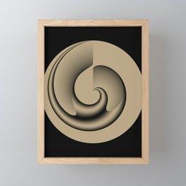 Sandy Abstract Mysterious Vortex Framed Mini Art Print