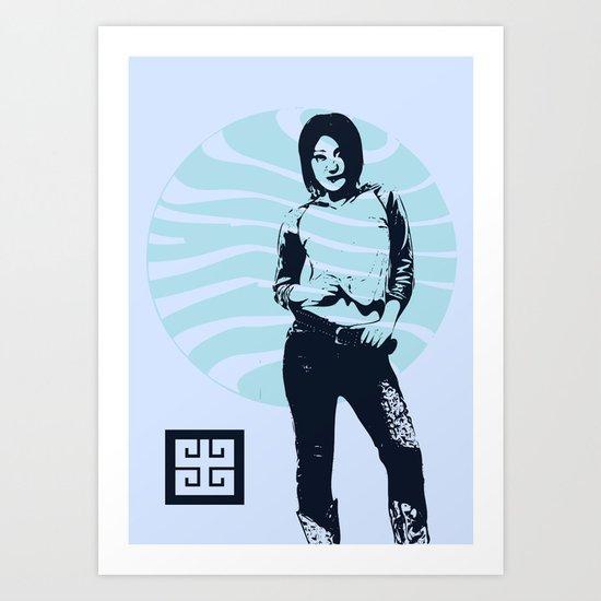 jean ad Art Print