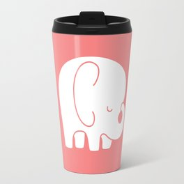 Mod Baby Elephant Coral Travel Mug