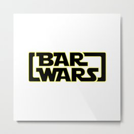 Bar Wars Metal Print