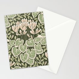 Cyclamen Art & Crafts Movement Style Design Stationery Cards