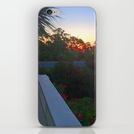 Sunrise from the Deck iPhone Skin