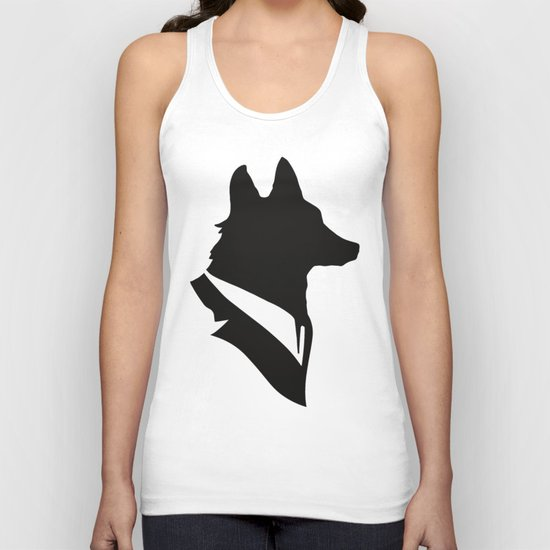 Monsieur Renard / Mr Fox - Animal Silhouette Unisex Tank Top
