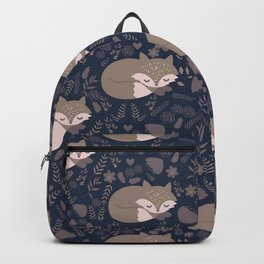 foxes and the autumn Backpack