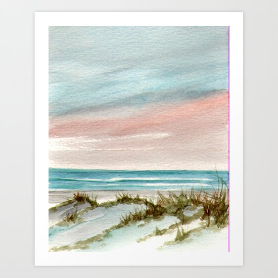 Soothing Sunset Seascape Art Print