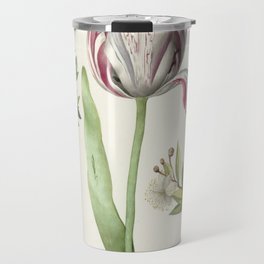 Tulip, two Branches of Myrtle and two Shells Travel Mug