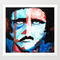 poe Art Prints featuring Poe by J. John Whitmore