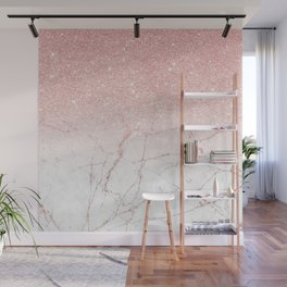Rose Glitter Pink Marble Wall Mural