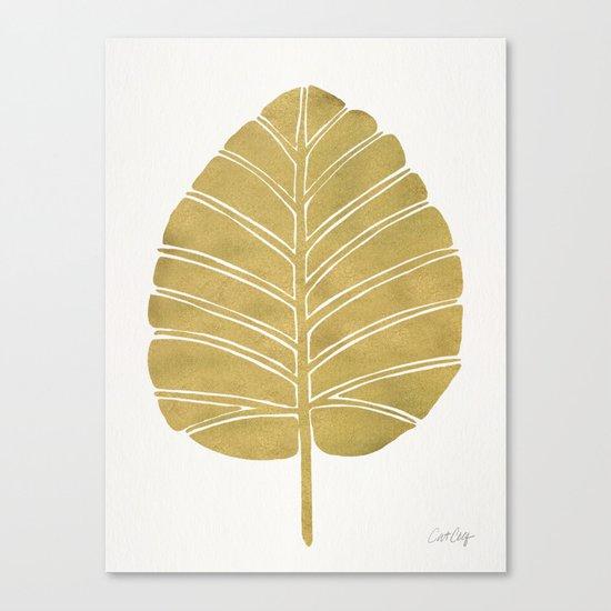 Elephant Ear Alocasia – Gold Palette Canvas Print