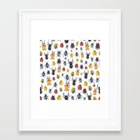 bugs Framed Art Prints featuring Bugs by Marina Eiro