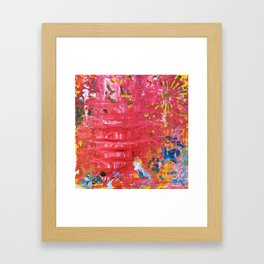 Red Abstraction Framed Art Print