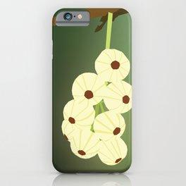Green Blooming Gooseberries iPhone Case