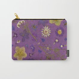 Purple dark floral Carry-All Pouch