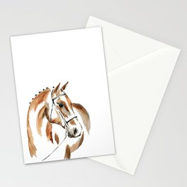 Bay Watercolour Horse Stationery Cards