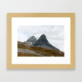 We Stand Together (Two Mountains, Norway) Framed Art Print