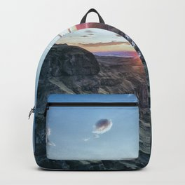 Valley sunset river Backpack