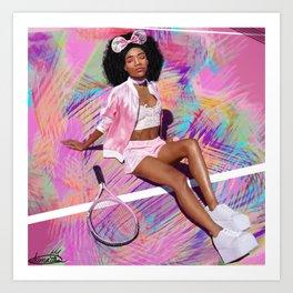 Pink Bow Art Print