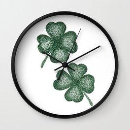 Lucky clover pair Wall Clock