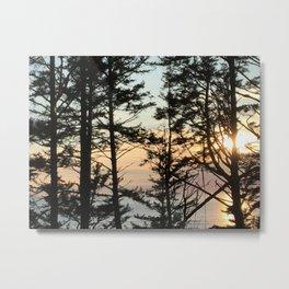 Ecola Sunset Metal Print