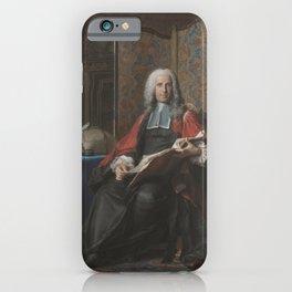 Maurice-Quentin de La Tour - Portrait of Gabriel Bernard de Rieux iPhone Case