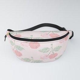 Cherry Cross Stitch Pattern on pink Fanny Pack