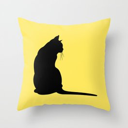 Cat's silhouette Throw Pillow