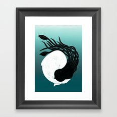 Sea Frenemies Framed Art Print