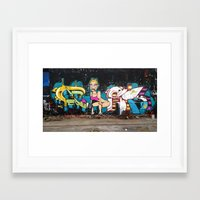 miley Framed Art Prints featuring Miley  by phes28