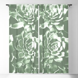 Modern sucullent green cactus floral pattern Blackout Curtain