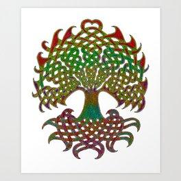 Celtic Knot Tree of Life Art Print