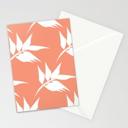 Coral Gum Tree Leaves Stationery Cards